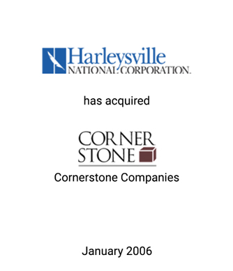 Griffin Serves as Financial Advisor to Harleysville National Corporation