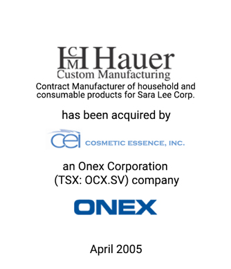 Griffin Serves as Financial Advisor to Hauer Custom Manufacturing, Inc.