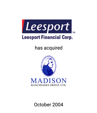 Griffin Serves as Financial Advisor to Leesport Financial Corp.