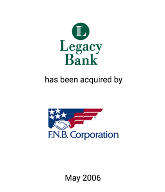 Griffin Serves as Financial Advisor to Legacy Bank