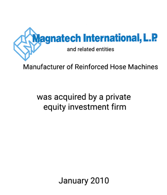 Griffin Completes Sale of Magnatech International, Inc.