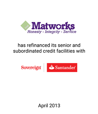 Griffin Assists The Matworks Company, LLC in Refinancing its Senior and Subordinated Credit Facilities