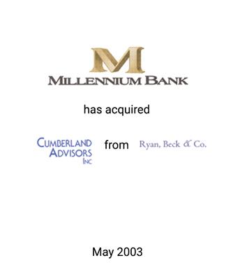Griffin Serves as Financial Advisor to Millennium Bank