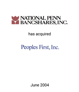 Griffin Serves as Financial Advisor to National Penn Bancshares, Inc.