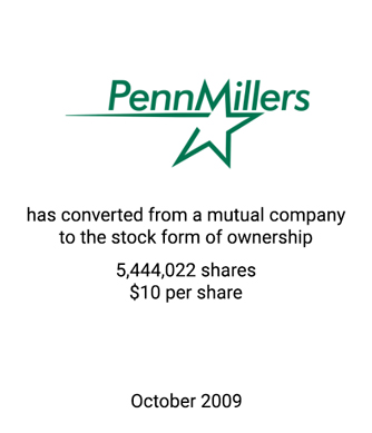 Griffin Completes Mutual to Stock Conversion for Penn Millers