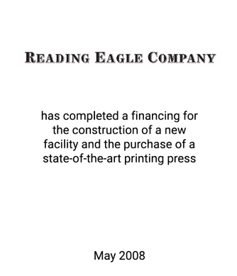 Griffin Completes Capital Raise for Reading Eagle Company