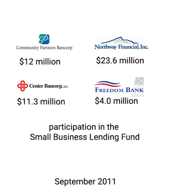Griffin Serves as Financial Advisor in the Small Business Lending Fund