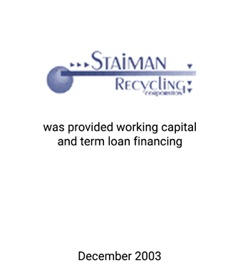 Griffin Serves as Financial Advisor to Staiman Recycling Corporation