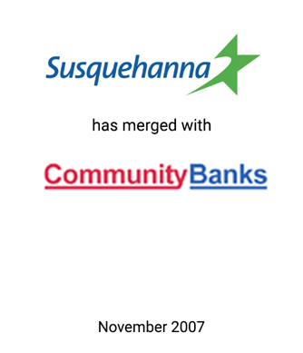 Griffin Advises Community Banks in Merger with Susquehanna Bancshares