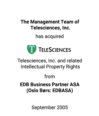 Griffin Serves as Financial Advisor to The Management Team of Telescience, Inc.