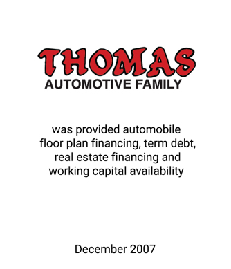 Griffin Serves as Financial Advisor to the Thomas Automotive Family of Dealerships